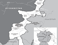 Military intelligence map: In 2007, the Uzbek IMU dominated the South Waziristan before forced out from the country by tribes and the armed forces in 2008.