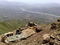 Pakistan airborne forces observing the Swat Valley at its highest point after defeating the Taliban, 2009.