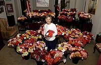 "On Valentine's Day 2005, Senator Boxer received 4,500 roses for her work, including her ""candid and eloquent remarks during the Rice confirmation [sic] hearings""."