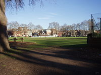 The school playing fields in Vincent Square
