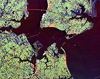 Hampton Roads from space