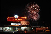Fireworks at Pier 83 in 2006.