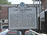 Continuation of the historic placard in tribute to Perkins