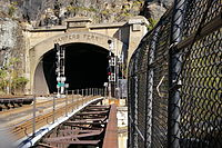 CSX rail tunnel at Harpers Ferry, West Virginia, in the Baltimore Division