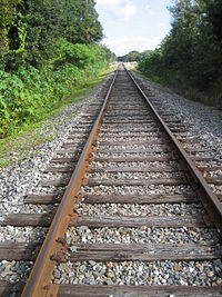 CSX train tracks in Clearwater, Florida, in the Jacksonville Division