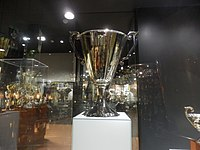 The trophy awarded to Sporting CP in 1964.