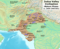 Indus Valley Civilisation during 2600-1900 BCE, the mature phase