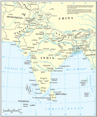 United Nations cartographic map of South Asia. However, the United Nations does not endorse any definitions or area boundaries.