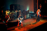 Led Zeppelin perform at Chicago Stadium in January 1975, a few weeks before the release of Physical Graffiti