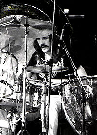 After the death of Bonham (pictured in July 1973) on 25 September 1980, the remaining members of Led Zeppelin decided to disband the group.