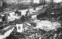Japanese Imperial Army soldiers during the Battle of Shanghai, 1937