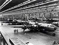 B-29 Superfortress strategic bombers on the Boeing assembly line in Wichita, Kansas, 1944