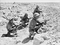 Soldiers of the British Commonwealth forces from the Australian Army's 9th Division during the Siege of Tobruk; North African Campaign, August 1941