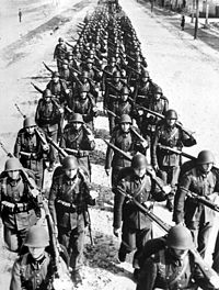 Soldiers of the Polish Army during the defence of Poland, September 1939