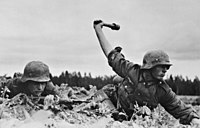 German soldiers during the invasion of the Soviet Union by the Axis powers, 1941