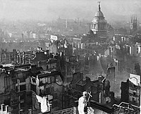 London seen from St. Paul's Cathedral after the German Blitz, 29 December 1940