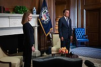 Romney said he would support President Donald Trump's Supreme Court nominee Amy Coney Barrett