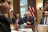 Romney with President Donald Trump, Kellyanne Conway, and Alex Azar during a White House listening session on the youth vaping and electronic cigarette epidemic