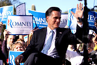 Giving an interview at a supporters rally in Paradise Valley, Arizona