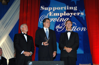 Receiving the 2006 Secretary of Defense Employer Support Freedom Award on behalf of his state
