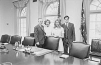 Mitt Romney and Ann Romney with George Romney and Lenore Romney at the White House in 1969