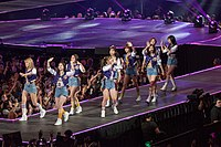 Twice performing at KCON LA in July 2016