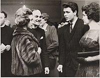 Princess Margaret (left) and Richard at the 59 Club, London in 1962