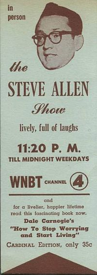 Bookmark promotion for Allen's late-night show