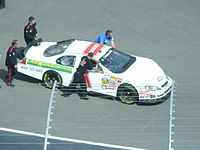 In 2009 Grissom drove this car for Johnny Davis's JD Motorsports. He started 43rd after crashing in qualifying and finished 43rd in the race after a vibration in car on lap 2.