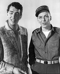 Dean Martin and Frank Sinatra on The Dean Martin Show in 1958