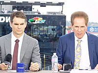 Gordon and Darrell Waltrip during a pre-race broadcast at the 2016 Daytona 500
