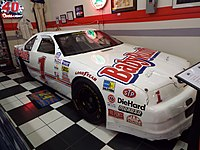 Gordon's Bill Davis Racing Busch Series car on display in the Martin Auto Museum