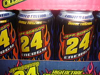 Jeff Gordon 24 Energy cans
