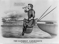Cartoon of McClellan used by his political opponents in 1864 presidential campaign