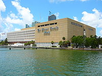 The former Miami Herald headquarters in Downtown Miami. The Miami Herald is the largest newspaper in South Florida.