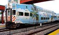 Tri-Rail, Miami's commuter rail system, connects to the three counties north to south.