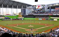 Marlins Park, home of the Miami Marlins of the MLB