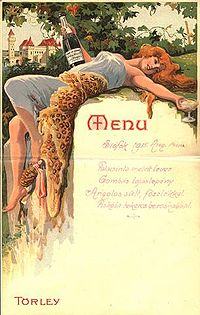 Example of sexual objectification of women on a wine menu
