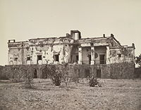 Hindu Rao's house in Delhi, now a hospital, was extensively damaged in the fighting