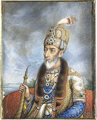 Bahadur Shah Zafar, the last Mughal Emperor, crowned Emperor of India, by the Indian troops, he was deposed by the British, and died in exile in Burma