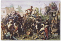 A scene from the 1857 Indian Rebellion (Bengal Army).