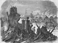 """""""The Sepoy revolt at Meerut,"""" from the Illustrated London News, 1857"""