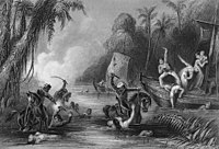 A contemporary image of the massacre at the Satichaura Ghat