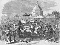 Massacre of officers by insurgent cavalry at Delhi