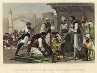 Sikh Troops Dividing the Spoil Taken from Mutineers, circa 1860
