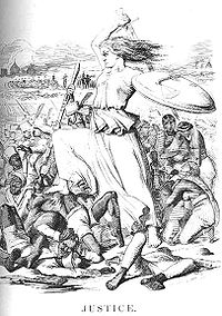 Justice, a print by Sir John Tenniel in a September 1857 issue of Punch