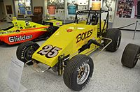 "Tony Stewart's 1995 Silver Crown Championship car, part of his ""Triple Crown"" accomplishment."
