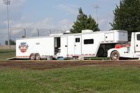 USAC trailer at a TORC event