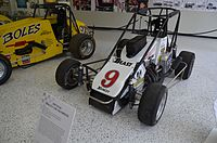 "Tony Stewart's 1995 Midget Car Championship car, part of his ""Triple Crown"" accomplishment."