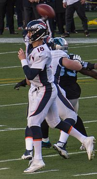 Manning in Super Bowl 50 against the Carolina Panthers